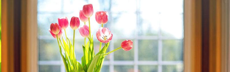 lente in huis halen