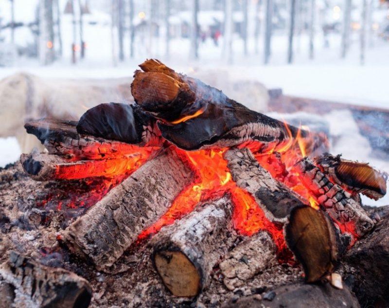 Vuur in de winter