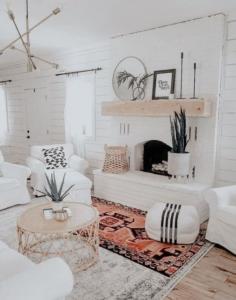 lichte woonkamer decoratie