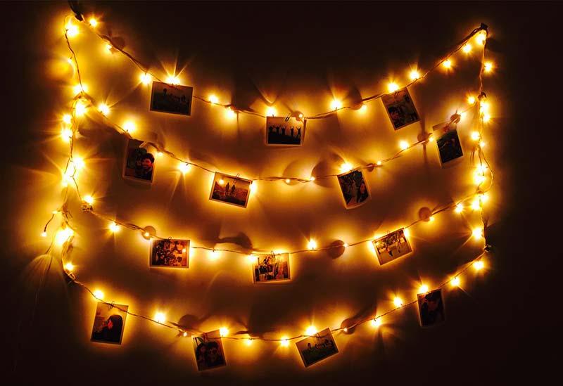 Slaapkamer inspiratie met lichtjes