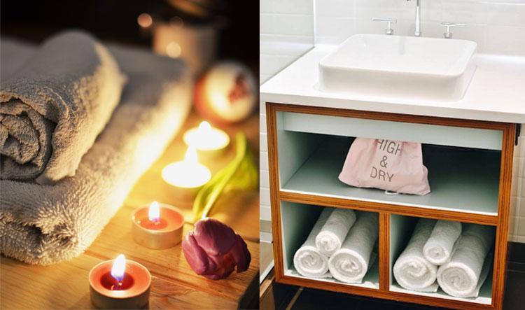 badkamer inspiratie handdoeken