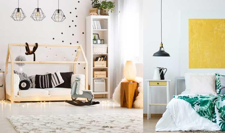 hanglampen industrieel slaapkamer