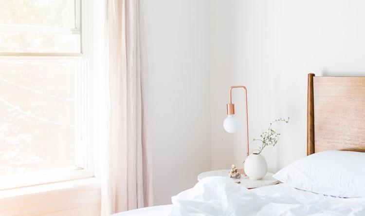 slaapkamer lichte pastel kleuren