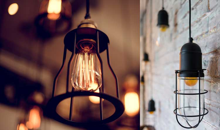 industriele hanglampjes