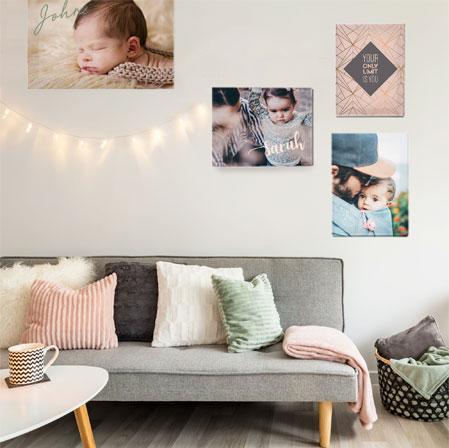 persoonlijke wanddecoratie fotoschilderij