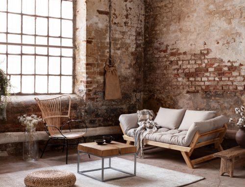 Hoe creëer je een industriële woonkamer?