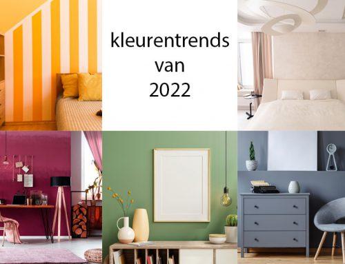De kleurentrends van 2022